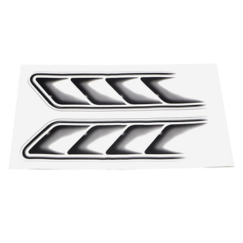 Protect Decoration Black 2pcs Car Flow Fender Replace Decals Sticker PVC Vent Useful Stickers image