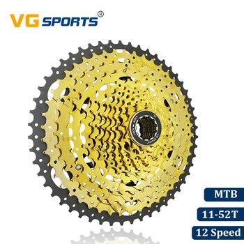 VG спортивный горный велосипед MTB 12 скоростная кассета 12 велоцидад 12 S 52T запчасти для велосипеда Золотая Звездочка Cdg Cog 726g