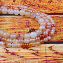 Candy Agate Natural Stone Bead Round Loose Spaced Beads 15 Inch Strand 4/6/8/10/12mm For Jewelry Making DIY Bracelet