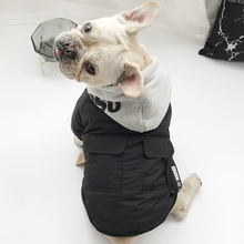 Zimowe wiatroszczelne list bluzy dla psów ubrania dla zwierząt stylowa bawełniana bluza moda strój dla psów koty szczeniak mały średni garnitur tanie tanio CN (pochodzenie) Poliester Jesień zima Stałe Letter Sweater Support pet dog hoodies clothes Cat dog fashion YYPET Windproof