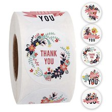 500 pces 1 polegada obrigado você etiqueta etiquetas à prova dwaterproof água selo etiqueta para scrapbook negócio papelaria etiqueta do casamento