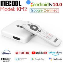 Mecool KM2 Netflix 4K HD TV Box Android 10 ATV Amlogic S905X2 2GB DDR4 primer vídeo HDR 10 Widevine L1 Youtube 4K TVBOX del mi caja