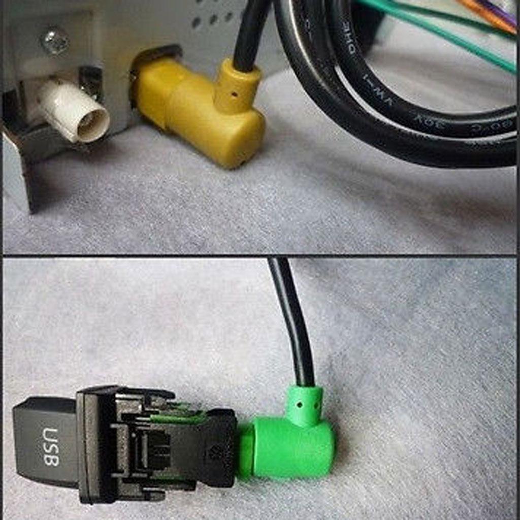 Otomobiller ve Motosikletler'ten Araba Anahtarları ve Röleleri'de USB anahtarı konnektör kablosu VW Jetta tavşan Golf GTI MK5 MK6 RCD510 title=