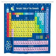 Hot New Periodic Table of Elements Bathroom Curtains Waterproof 3D Print Shower Curtain White Fabric For The Bath