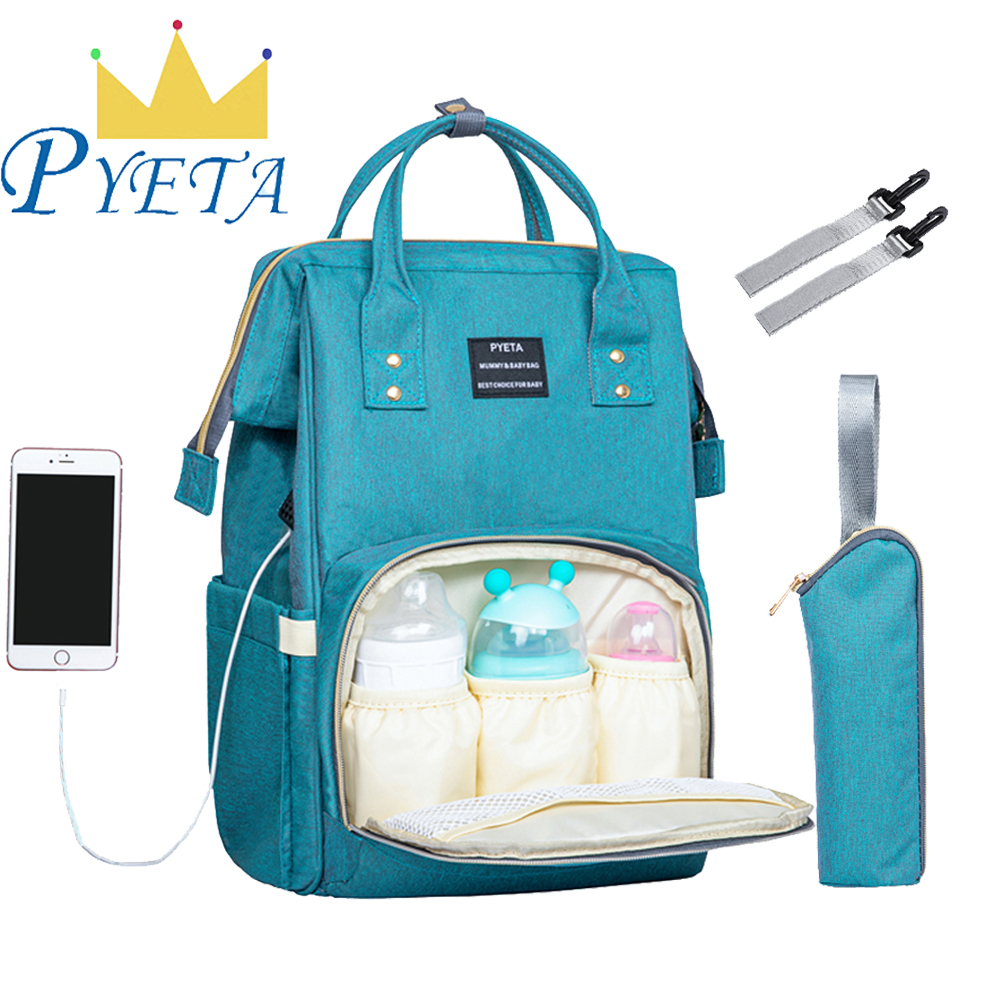 Baby Diaper Bags With USB Port,Nappy Backpack Bolsa Maternidade Bags For Mummy Bags,Maternity Bag Nursing Bag For Baby Care
