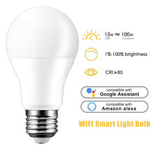 Google Assistant Work Remote Voice Control APP Multicolored LED Lamp Dimmable LED Lamp Smart WiFi(China)