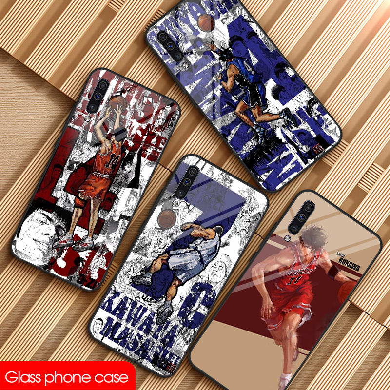 Cartoon Slam Dunk master glass Phone For galaxy sumsung Note 8 9 10 Plus S8 S9 S10E A10 20 30 <font><b>40</b></font> <font><b>50</b></font> <font><b>60</b></font> 70 Case Cute sports DIY image