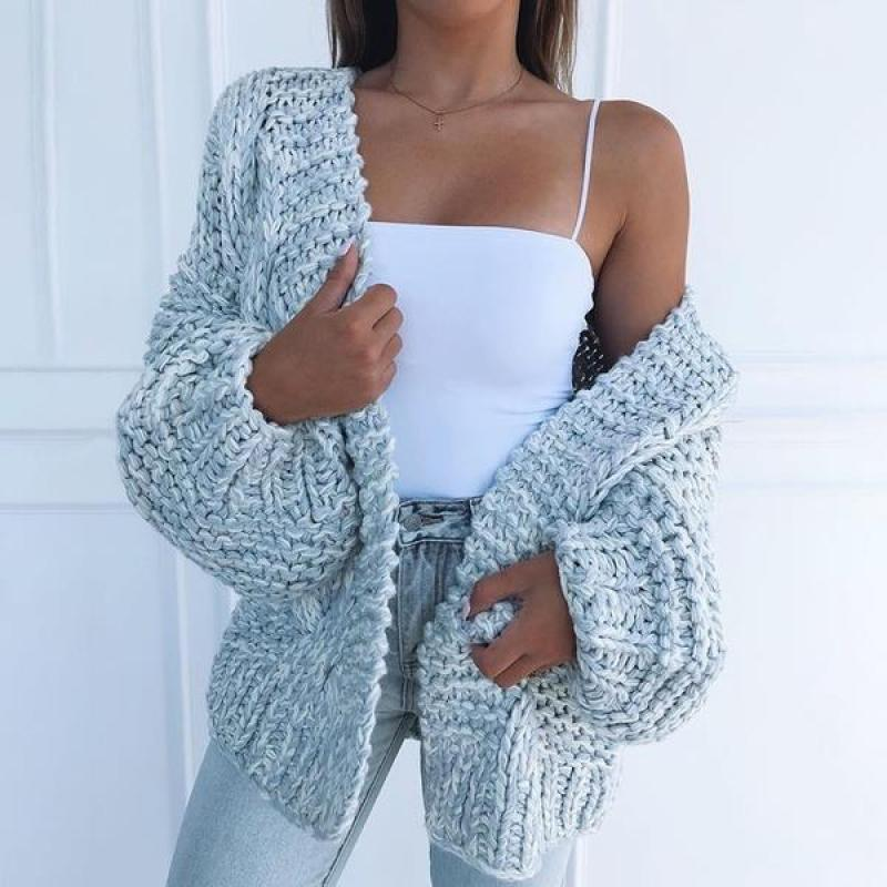 V-neck Sweater Women's New Korean Of White Loose Large Size Lazy Wind Cardigan Knitting Tops Plus Size 3XL