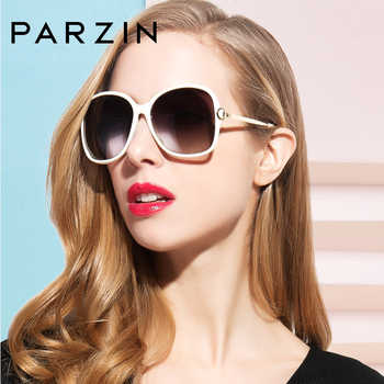 PARZIN Brand Big Frame Polarized Sunglasses For Women High Quality Shield Driving Glasses Fashion Women Eye wear Accessories9217