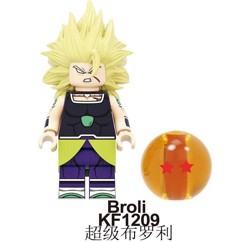Bloco de construção broli dragon ball z son goku vegeta filho gohan gogeta torankusu blocos de construção bonecas figuras de ação brinquedos kf6098