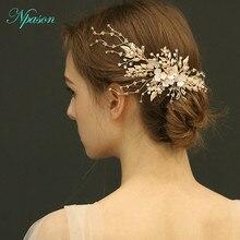 Роскошный ободок для волос, свадебные заколки для волос, золотые вставки для волос, хрустальные шпильки для волос, свадебный головной убор, аксессуары для волос ручной работы J6256