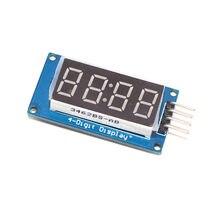 Módulo de exibição led tm1637 para arduino 7 segmento 4 bits 0.36 Polegada relógio vermelho ânodo digital tubo quatro série driver placa pacote