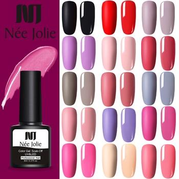 NEE JOLIE Soak Off Base Gel Top Coat Matte Polish Nail Lacquers 8ml Manicures Wholesale Long Lasting Color
