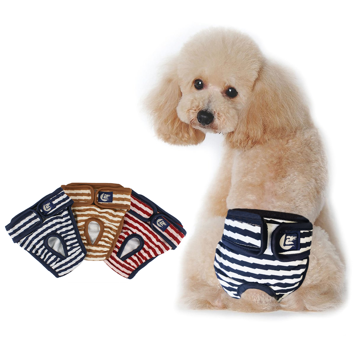 Female Dog Diapers Pet Pants Pet Physiological Panties Washable Diapers Pet Clothes Menstruation Sanitary Underwear For Dog D40