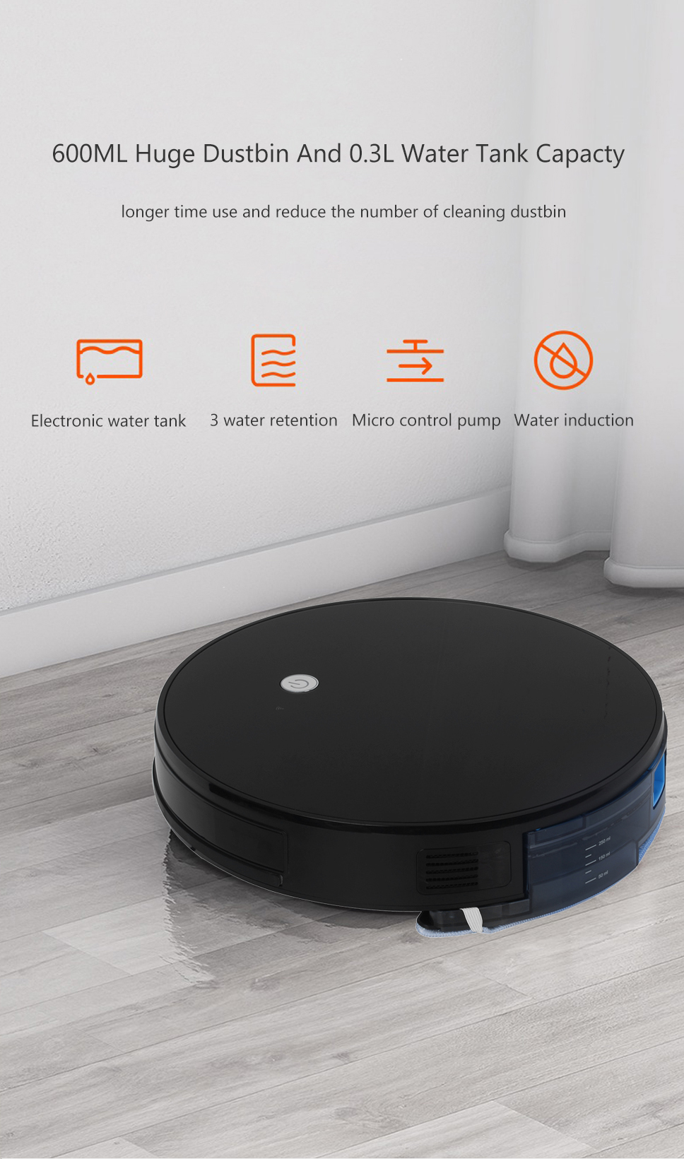 H42d1068ab5fb46e79c08caada5638b092 Home Intelligent Sweeping Robot App Remote Control Wireless Vacuum Cleaner Smart Wiping Machine Automatic Refill Floor Cleaner