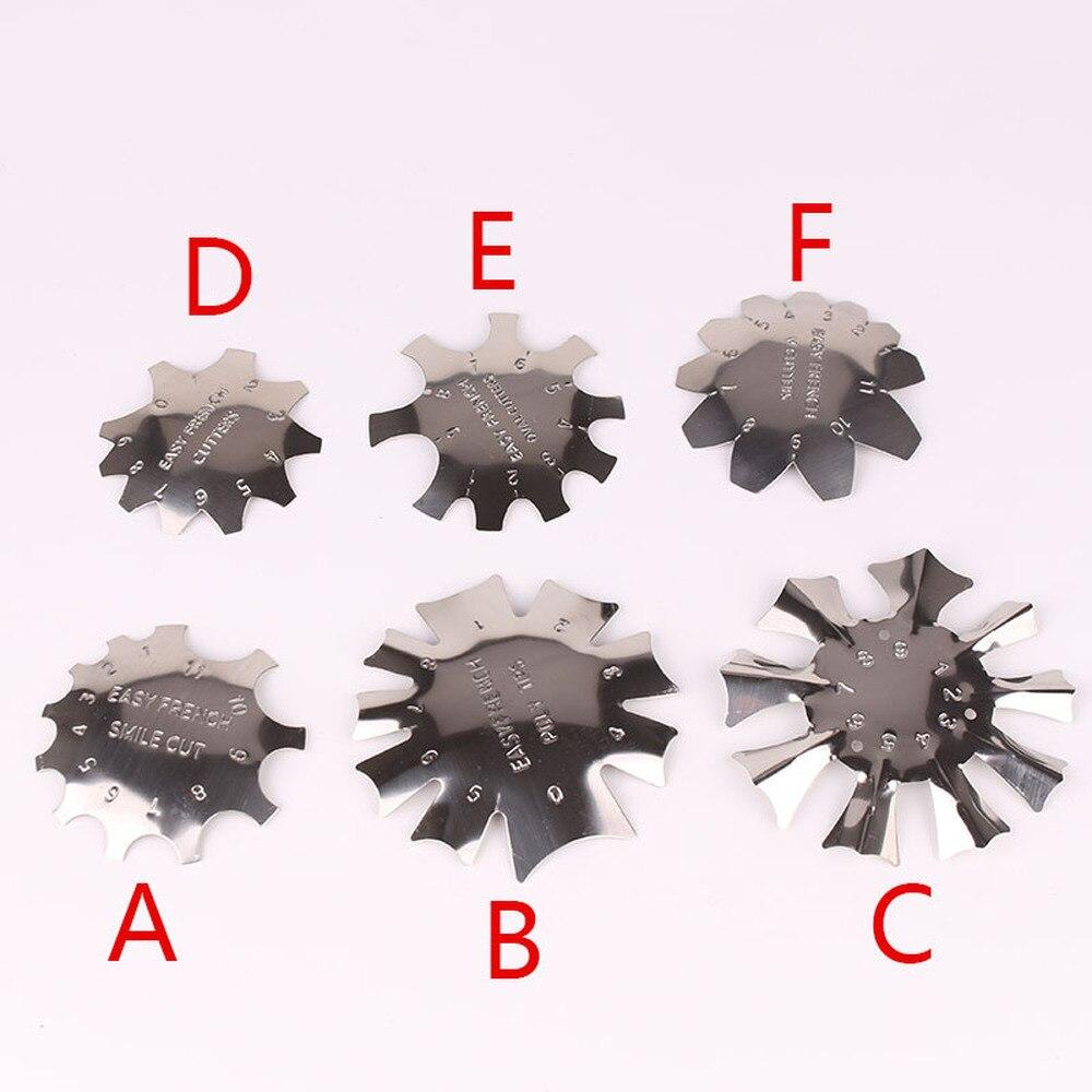 Легко французский линия края ногтя инструмент резчик трафарет триммер; Многоразмерные х Маникюр Nail Art для укладки волос