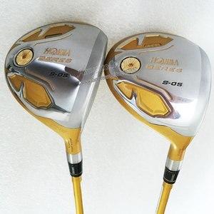 Image 3 - 新ゴルフクラブ本間 S 05 ゴルフフルセット 4 スターゴルフドライバーウッドアイアンパタークラブカーボンシャフト r または S のクラブセット無料