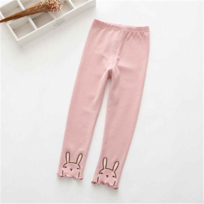 Vidmid Winter Girls Sport Leggings For Kids Cotton Solid Soft Elastic Trousers  3-10 Years Children Striped Skinny Pants P254 4