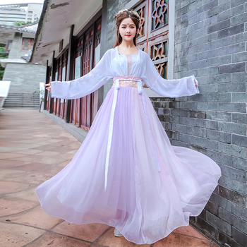 Fairy Cosplay Hanfu Women Tang Dynasty Traditional Chinese Folk Dress Exquisite Embroidery Hanfu Ancient Chinese Costume chinese traditional fairy costume ancient han dynasty princess clothing national hanfu outfit stage dress cosplay costume