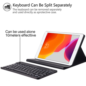 Image 4 - Bluetoothキーボードipad 7th世代 (2019)/新型ipad 8th世代 (2020) 10.2インチ 着脱式のbluetoothキーボード保護ケース