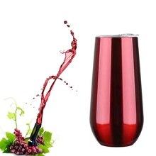 Тонкий выпуск яичная скорлупа чашка из нержавеющей стали вакуумная изоляция контейнер творческий дом красное вино стекло европейский стиль