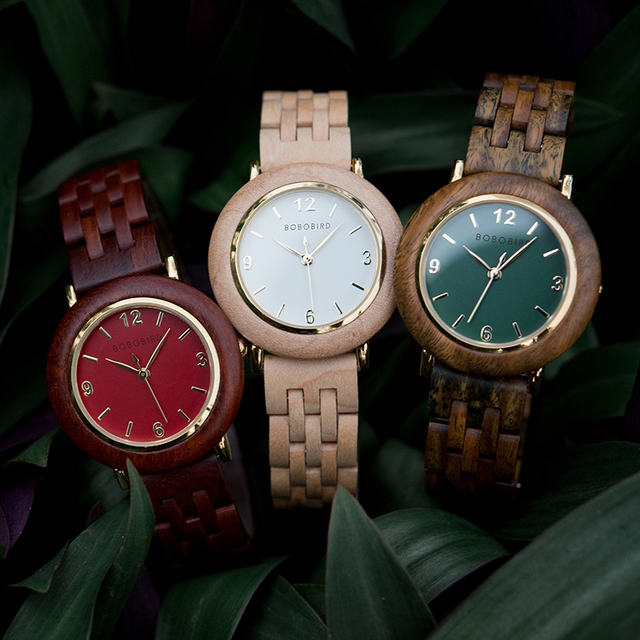 zegarek damski BOBO BIRD Light Wood Watches Women reloj de mujer Wrist Watch Clock Anniversary Gift for Her Dropshipping
