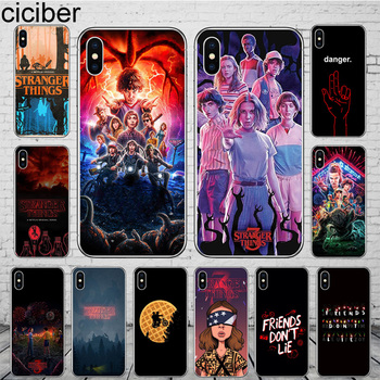 ciciber Stranger Things Phone Cases for iPhone 11 Pro Max Cover For iPhone XR 8 7 6 6S Plus X XS Max 5S SE Soft TPU Shell Coque ciciber dragon ball phone case for iphone 11 pro max xr x xs max tempered glass cover cases for iphone 7 8 6 6s plus funda coque
