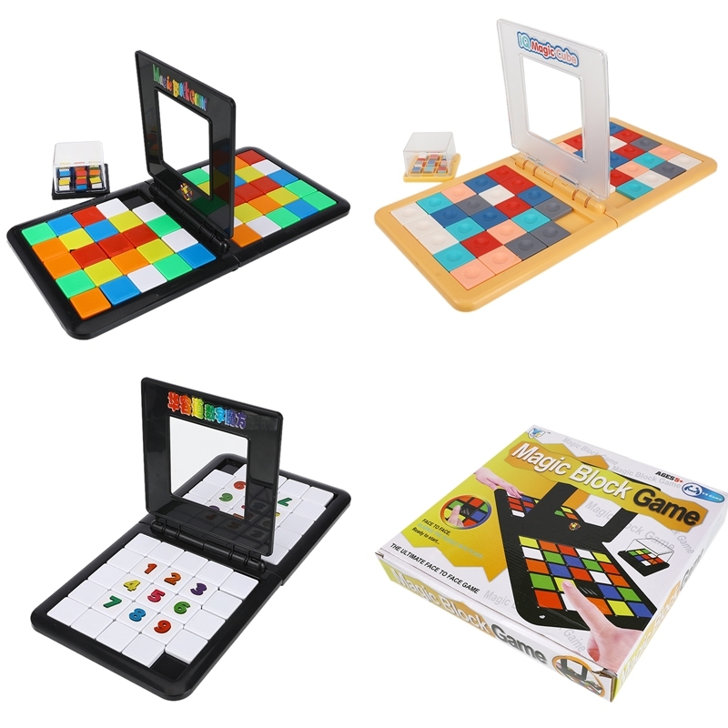 3 Style Parent-Child Interactive Colorful Battle Sport Game Puzzle Cube 3D Puzzle Race Cube Board Game Kids Adults Education Toy