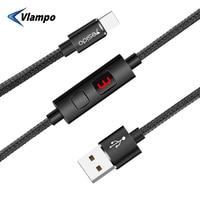 VLAMPO, новинка, быстрая зарядка, Тип C, Смарт, защита от паутины, кабель для передачи данных, для samsung, Xiaomi, huawei, USB, зарядное устройство для телефо...