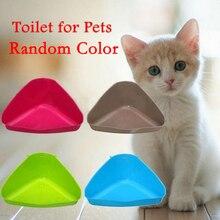 ПЭТ угловой лоток для туалета, коробка хомяк, домашнее животное, кошка, кролик, угловой туалет, поднос для туалета, чистый внутренний поднос для домашнего туалета