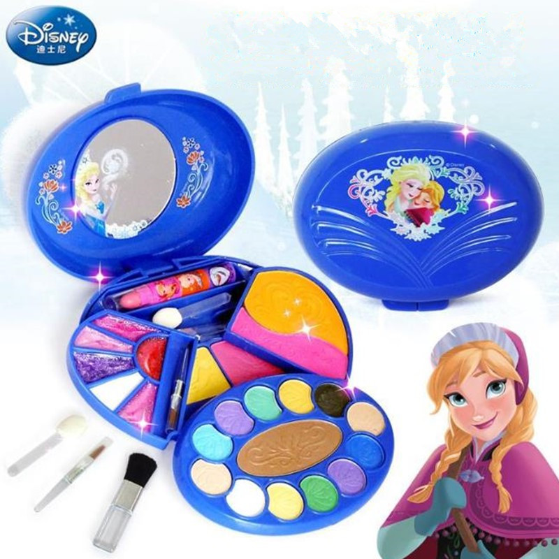 Disney Frozen Professional Makeup Box Water Solubility Children's Cosmetics Pretend Play For Kids Birthday Gift