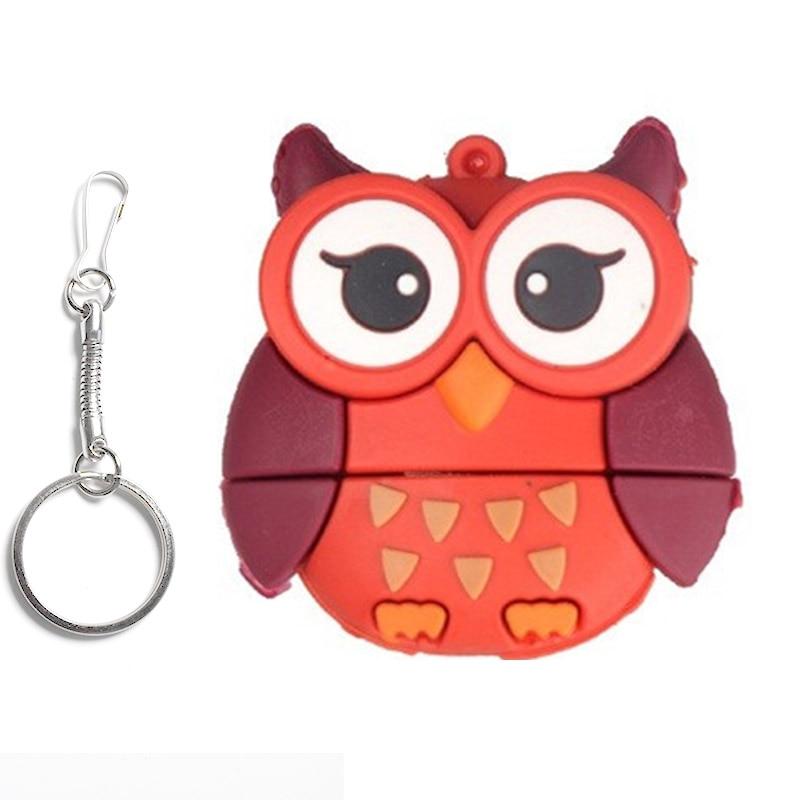 Miniseas Usb Flash Drive Owl Bee Penguin Fox 64MB 512MB 32GB 64GB Memory Usb Stick 2.0 Pen Drive Pendrive For PC
