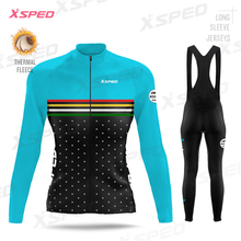 Winter Fleece Jerseys Set Pro Team Women's Cycling Clothing Long Sleeve Thermal Tight Road Bike Clothes Female Outdoor Warm Suit