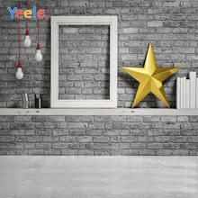 Yeele Christmas Backdrop Star Brick Wall Newborn Baby Portrait Photography Background For Photo Studio Photocall Photophone kate newborn baby backdrop photography brown wood brick wall fond de studio de adults use fundo fotografico natal