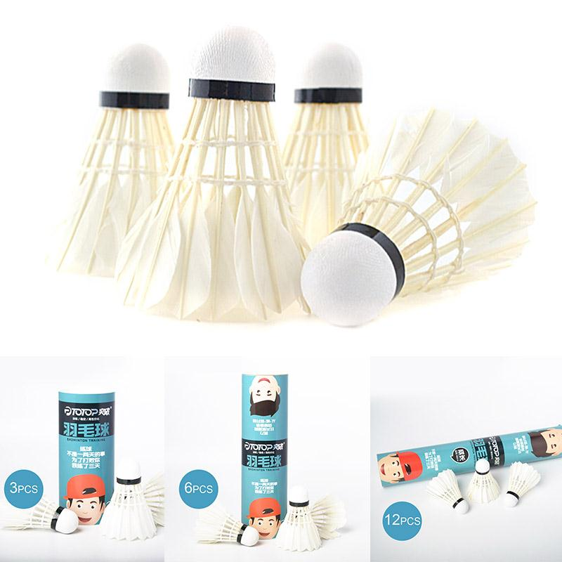 Barrel Badminton Durable Colorful Goose Feather Ball Sports Accessoriess Indoor Outdoor Flyers Fitness Badminton Sporting Goods