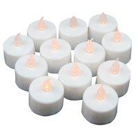12 stücke LED Flackern Tee Lichter Batterie Betrieben Kerzen für Hochzeit Party Dekoration auf