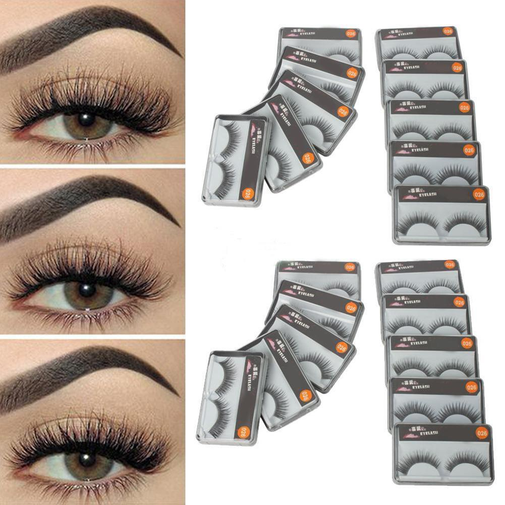 3D Natural Multi Layer Thick Cross Eye Lashes Hand Lashes Made Fake Reusable For Dropship 3D Eyelashes C4S7