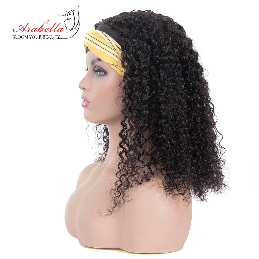Jerry Curly  Wigs With Headband  Hair Full Machine Made Wig  Easy to Install ARABELLA Glueless Wig 2