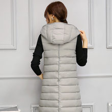 New Brand 2918 Winter Sleeveless Women jacket Long Thick Cotton Vest Female Hooded Slim Waistcoat Women Outwear LX872(China)