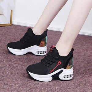 2020 branco na moda sapatos femininos de alta qualidade sapatos femininos plataforma tornozelo botas cesta femme chaussures femmes aumento da altura sapatos