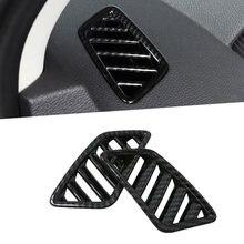 Nowy 2 sztuk wnętrza samochodu górny wylot odpowietrznika pokrywa tapicerka dla Mitsubishi Eclipse krzyż 2018 2019 2020 styl włókna węglowego