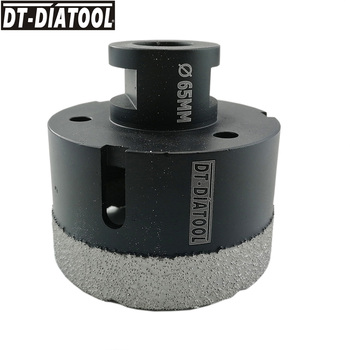 цена на DT-DIATOOL 1pc M14 Dia 65mm Dry Vacuum Brazed Diamond Drilling Core Bit Ceramic Tile Hole Saw Granite Marble Stone Drill Bit
