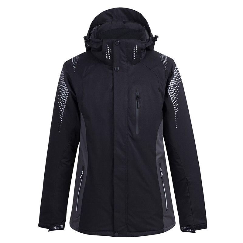 -30 Women and Men winter Suit snowboard clothing winter street warm waterproof windproof skiing jacket 5 plain colors
