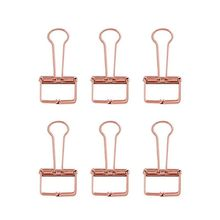 Binder-Clip Stationery-Supply Paper-Organizer Rose-Gold Office School for Decorative