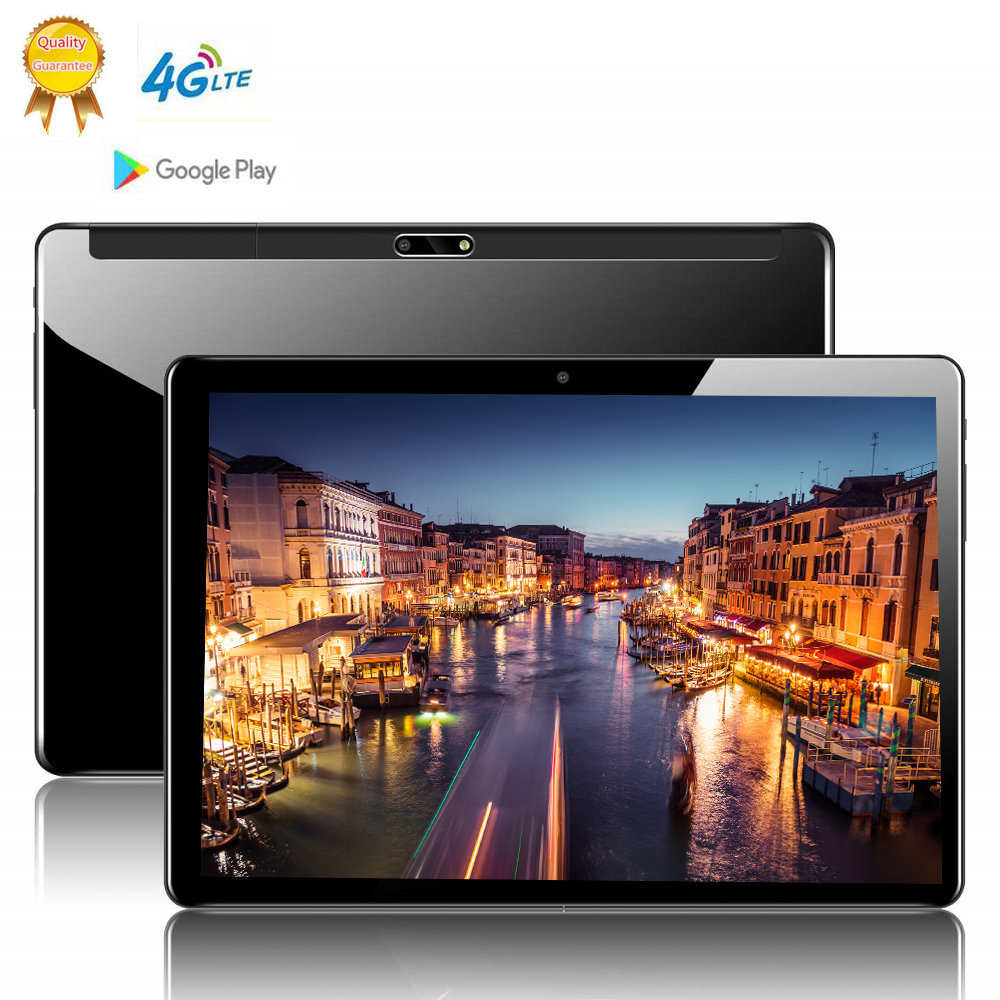 Tablet  Global Version 10 Inch 2.5D Glass Tablet PC 10 Deca  Core 8GB RAM 128GB ROM Android 9.0 WiFi 3G 4G LTE IPS Tablet 10.1