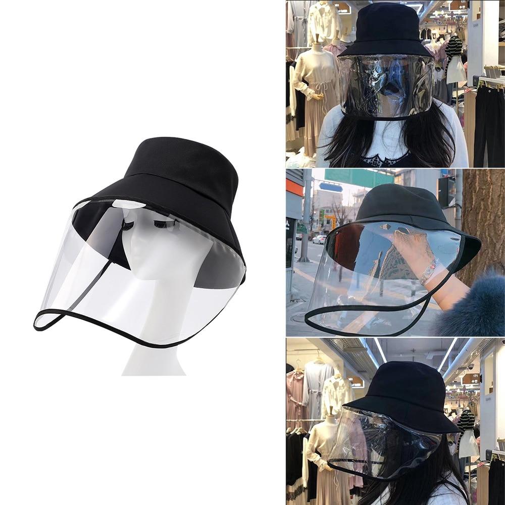 Image 2 - 1PCS Face Protection Masks Hat Helmet Isolation Corona Respirator  Anti Virus Spittle Surgical Safety Shield work with KF94 N95Braces