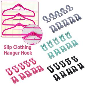 10PCS/Lot Mini Flocking Cloth Hanger Hook Clothes Easy Hanger Hook Closet Organizer Holder Save Space Non Slip Flocking Hanger(China)