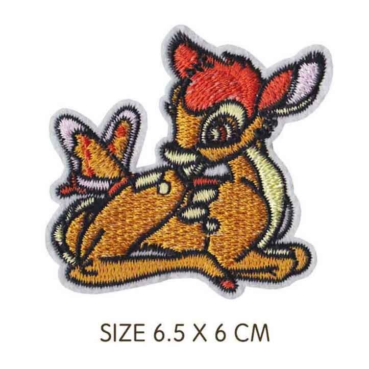 Милая вышитая тканевая нашивка с изображением двух белок из мультфильма «Железо» для девочек и мальчиков, одежда с наклейками, одежда - Цвет: Лазерный