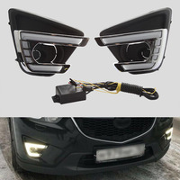 Car LED Daytime Running Light DRL Kit For Mazda CX 5 CX5 2015 2016 12V Front Bumper Lamp with Accessories