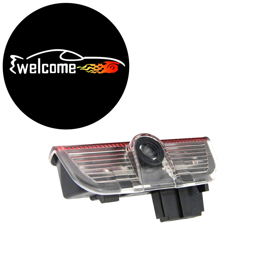 2 قطعة LED الباب تحذير ضوء شعار العارض مصباح ل Volkswagen VW Golf 5 6 7 جيتا MK5 MK6 MK7 CC تيجوان باسات B6 B7 شيروكو